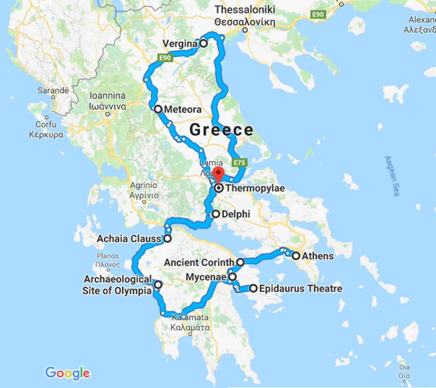 MAP-Classical-Greece-7-Day-tour