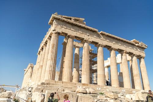 the acropolis of athens with the Parthenon