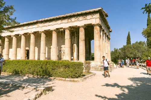 The Temple of Hephaestus situated in the Ancient Agora of central Athens