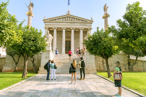 the national library of Athens neoclassic building