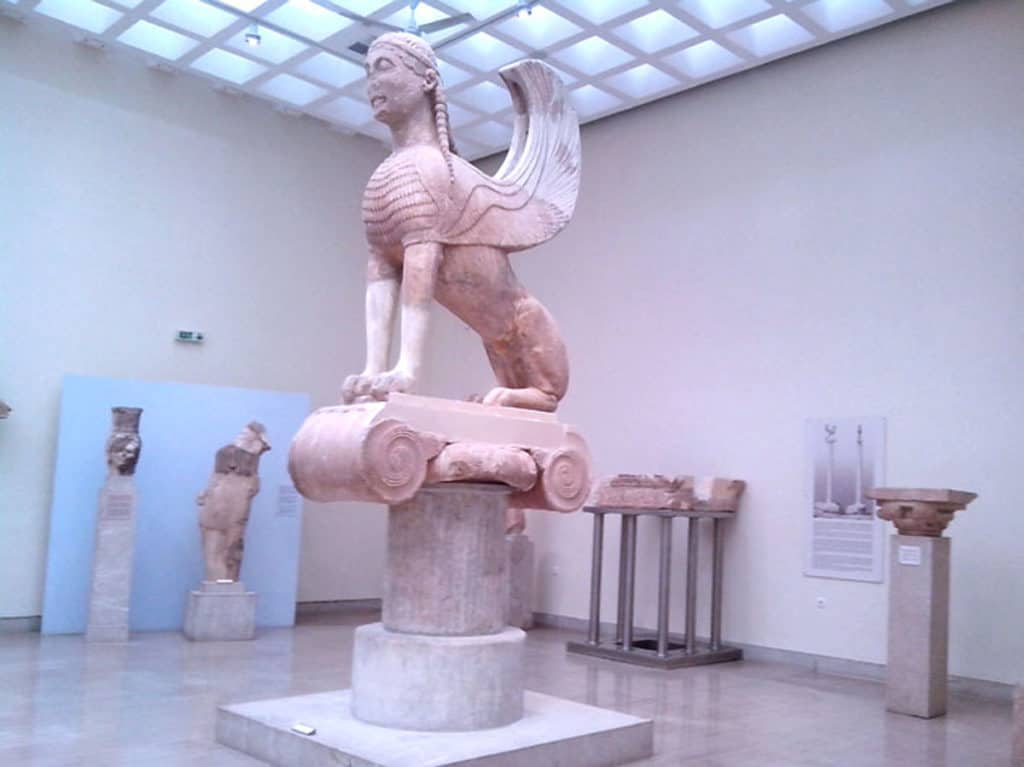 The Museum in Delphi has many sculptures and ancient artifacts recovered from the Archaeological site