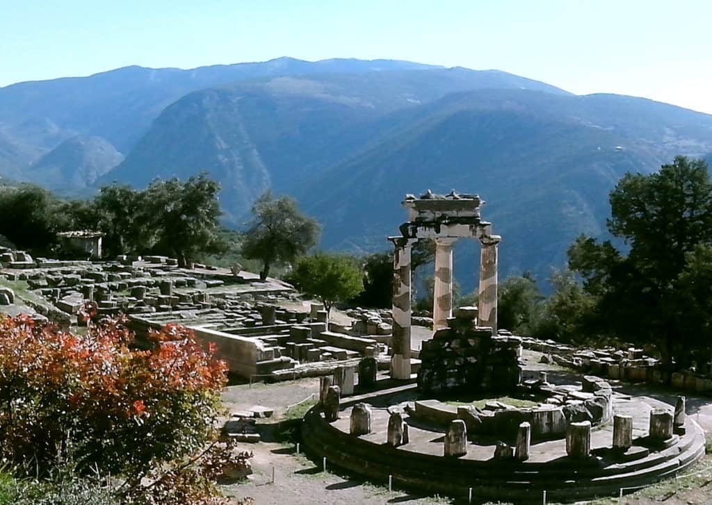 The sanctuary of the goddess Athena with the Tholos Temple