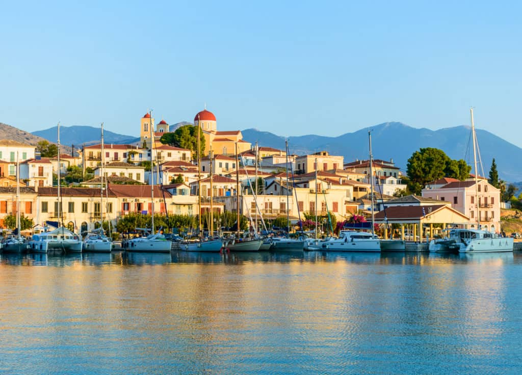 A beautiful seaside town with many neoclassic mansion houses