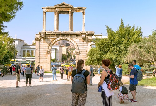 visit to the see the arch of Hadrian in Athens