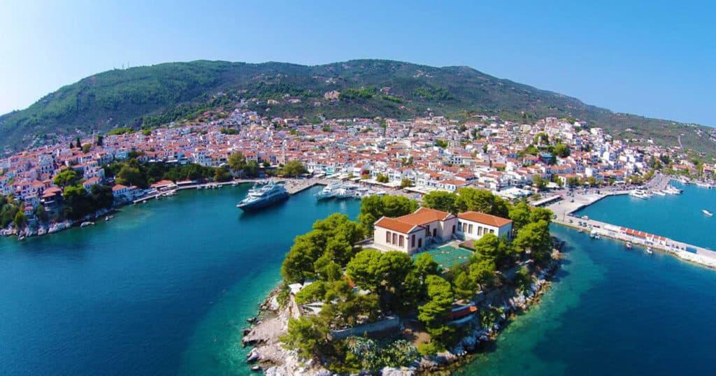 pretty greek village by the sea
