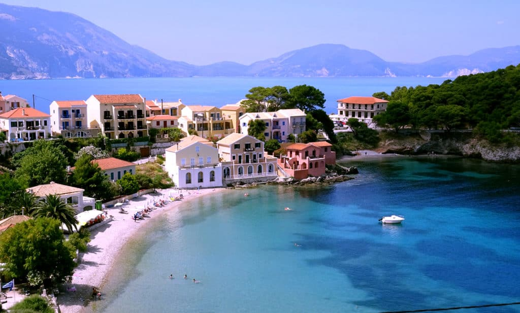 Bay along the shore of the island of Kefalonia during our ionian  skippered sailing holidays