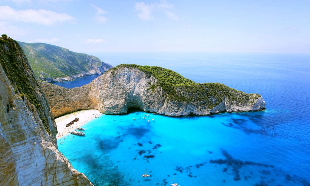 shipwreck lies in the beach of the Ionian Island of Zakynthos