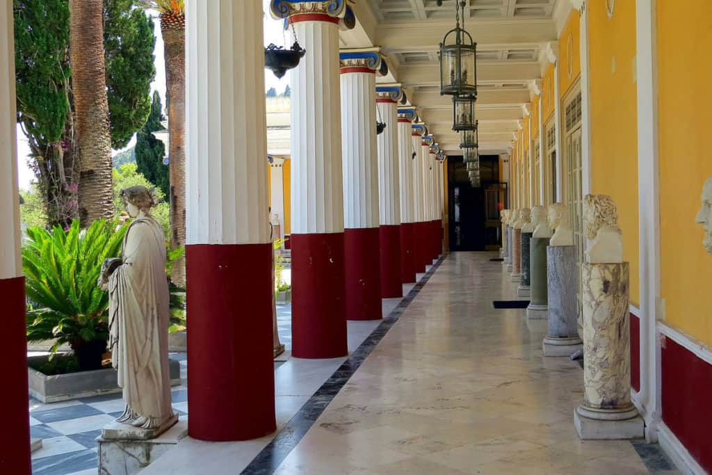 visit to a palace in corfu during a skippered sailing vacation