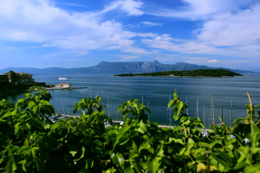 panoramic view over an ionian island