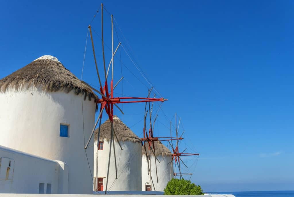 visit to mykonos windmills