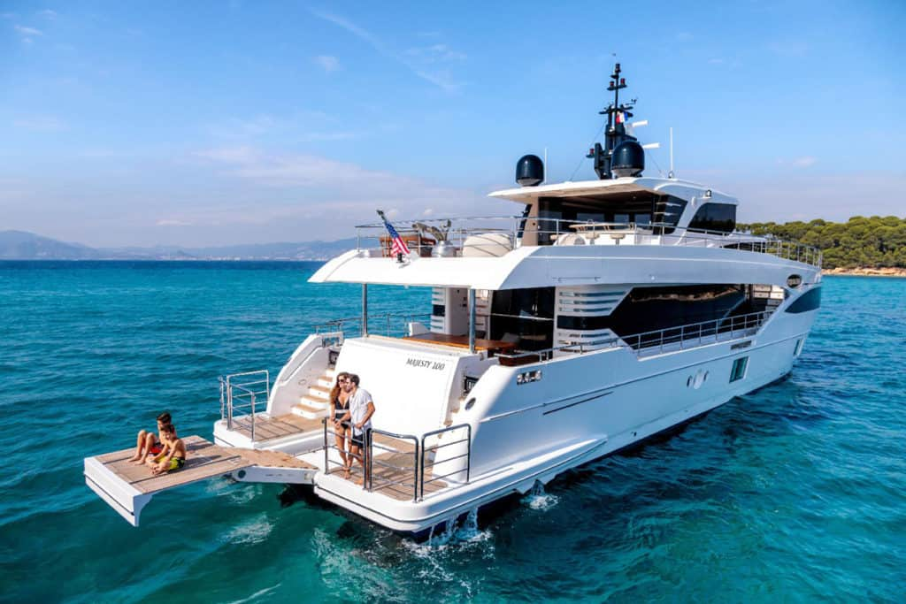 cyclades skippered sailing with luxury motor yacht