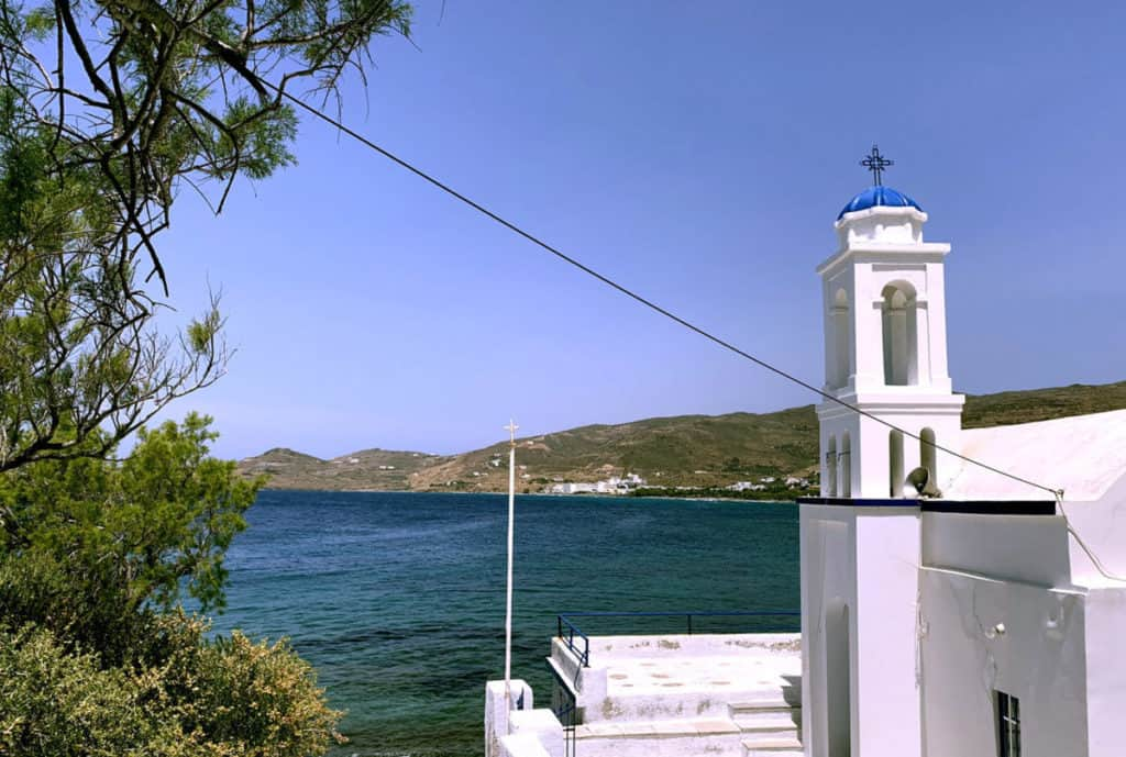 a small bay in tinos island