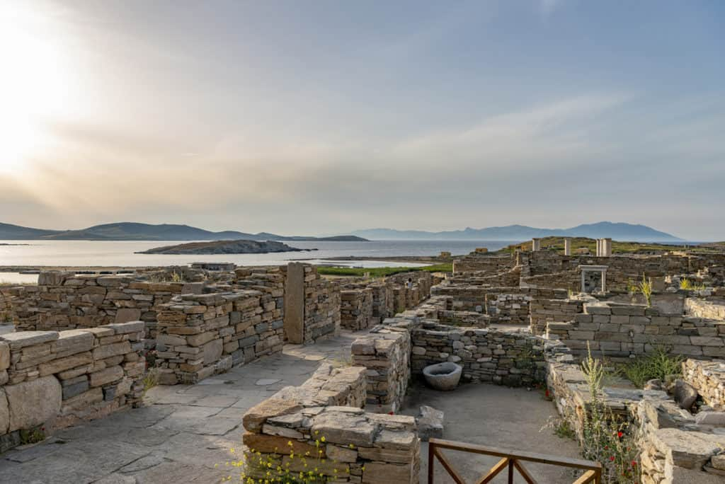 visitiing delos archaeological site