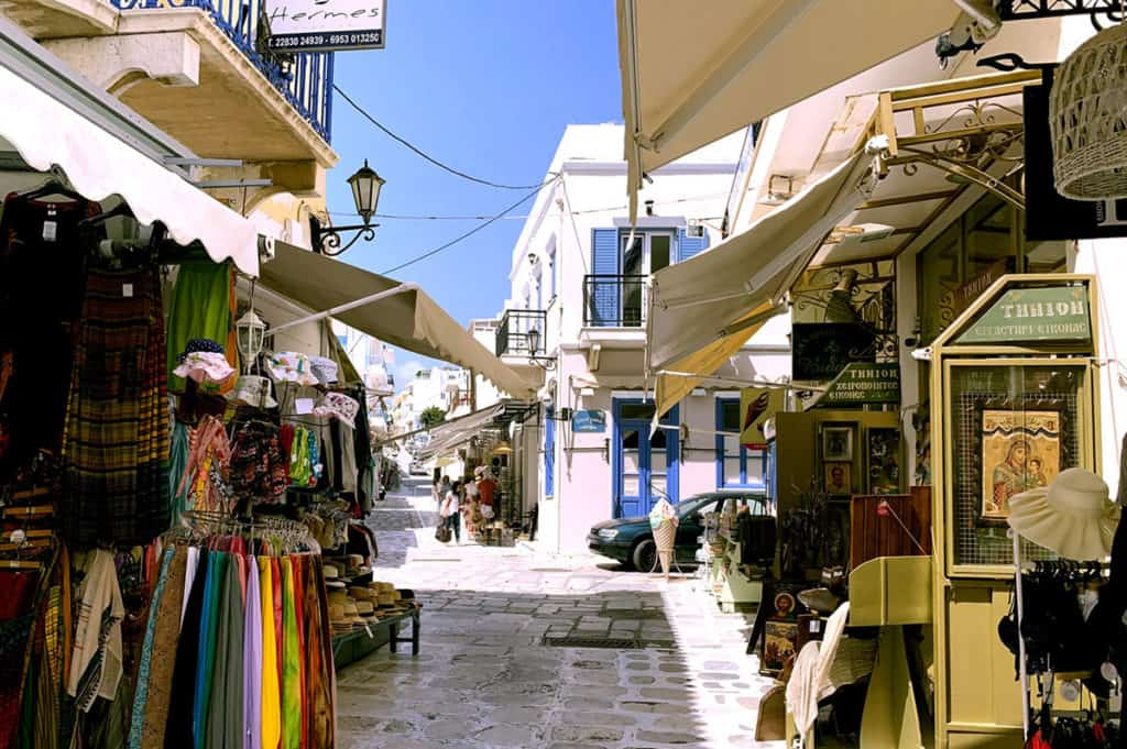 cyclades skippered sailing in timos islands small pretty street